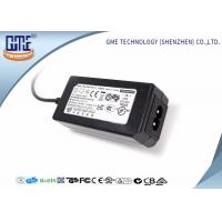 China 24W Desktop Switching Power Supply Black Color 15V With AC / DC Cable wholesale