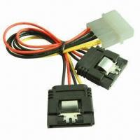 China One Molex 4-pin Male to 2 x Serial ATA 15-pin Female Power Supply Terminal with 15cm Cable wholesale