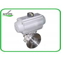 Quality Hygienic Weld Clamp Flange Thread Tank Bottom Ball Valve With Aluminum Pneumatic Actuator for sale