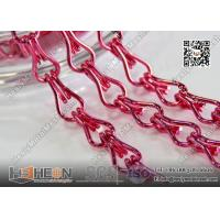 Buy cheap Pink Color Aluminum Mesh Chain Fly Screen for Architectural Decorative Curtain from wholesalers