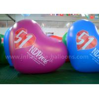 China Heart Shaped Inflatable Advertising Balloons / 2.5m PVC Air Balloon Advertising wholesale