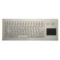 China 85 Keys Washable Ruggedized Keyboard , Stainless Steel Keyboard With Touchpad wholesale