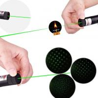 China Safety Key High Power Laser Pointer 303 532nm 100mw With Visible Green Laser Beam wholesale