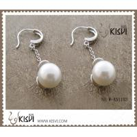 China 100% 925 fashion sterling silver gemstone earrings with immitatin pearl W-AS1153 wholesale