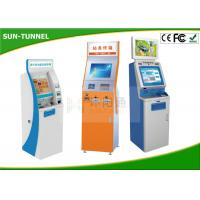 China 22 Inch Indoor Multi Touch Self Service Kiosk Free Standing High Brightness wholesale