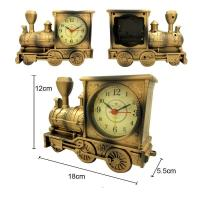 China Fashion design train shape table clock for room decoration wholesale