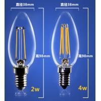 China 4W 6W C35 E14 Edison COG lamp LED Filament Bulb Candelabra Light replace traditional bulbs wholesale
