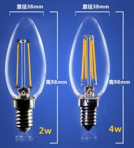 Quality 4W 6W C35 E14 Edison COG lamp LED Filament Bulb Candelabra Light replace for sale