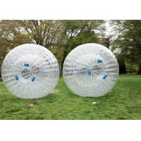China Transparent 2.8m x 1.8m PVC Inflatable Body Zorbing Ball For Rolling Ramp wholesale