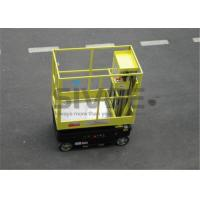 China Motor Driven / Self Driven Aluminum Work Platform 5m Working Height Dual Mast wholesale