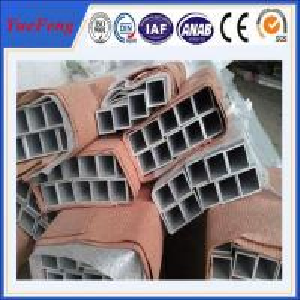 China Powder Coating Colored Square Aluminum Tube/ aluminium square pipe wholesale