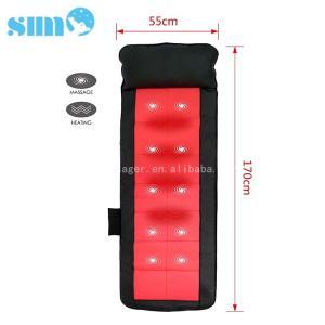 China Black Red PU Heated Massage Mattress Safety 15mins Timer Relief Muscle Stress wholesale