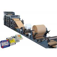 Quality Full Automatic Paper Sack Machine High Speed With PLC Control Panel for sale