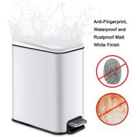 China Small foot pedal Indoor Trash Can 5 Liter  1.3 Gallon Rectangular Step Garbage Can wholesale