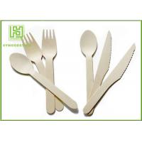 China Food Grade Premium Birch Disposable Eco Friendly Wooden Cutlery Fork Knife Spoon wholesale