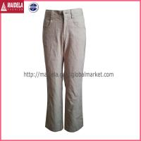 China Womens casual long pants with cotton fabric wholesale
