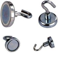 Quality N52 10LBS Magnets Super Heavy Magnetic Hooks Neodymium Rare Earth for sale
