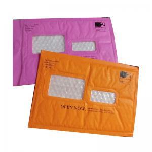 Pink Kraft Shipping Envelopes , Kraft Padded Mailers Window Ideal For Address Label