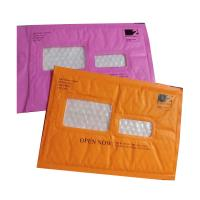 Quality Pink Kraft Shipping Envelopes , Kraft Padded Mailers Window Ideal For Address Label for sale