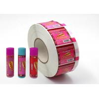 China Hard - Wearing Custom Adhesive Labels Pink Color Non Toxic For Lip Balm wholesale