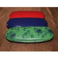 China Fashion Abs Plastic Kids Eyeglass Case Lightweight Black / Red With Velvet Lining wholesale
