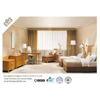 China Unique Style Hotel Bedroom Furniture Mid - Century Ash Finished For Standard  Room wholesale