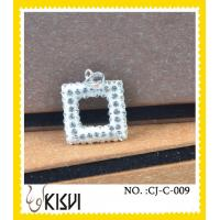 China High quality guarantee square CZ crystal & 925 silver handcrafted crystal jewelry wholesale