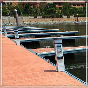 China Floating Pontoon Aluminum Structure Boat Floating Platform Bridge Modular Marina Dock For Jetty on sale