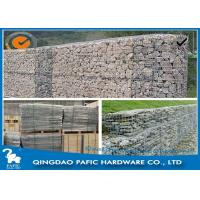 China Galvanized / PVC Coated Steel Gabion Baskets / Wire Gabion Mesh Container wholesale