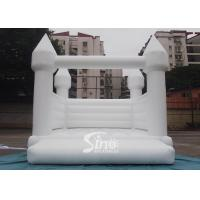 China Outdoor 5x4m adults wedding white bouncy castle for wedding parties or events wholesale