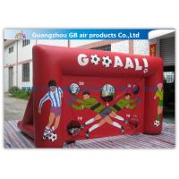 China Red Funny Boys Inflatable Football Game / Inflatable Sports Arena For Ball Shooting wholesale