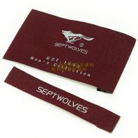China Garments Woven Labels Small Quantities , High Density Woven Apparel Labels wholesale