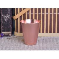 China 95ml Rose Gold Taper Cone Shaped Aluminium Candle Vessel Metal Jars For Candle Making wholesale