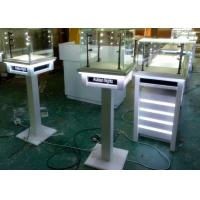 China White Painting Color Lockable Glass Display Case For Jewelry Exhibition wholesale