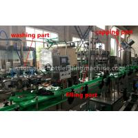 China Energy Drink Glass Bottle Filling Machine 220V / 380V Voltage For Small Scale Beverage Factory wholesale
