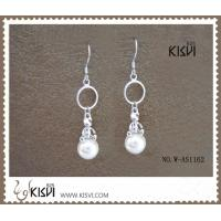 China Elegant & fashion design dangle silver gemstone earrings with mother of pearl W-AS1162 wholesale
