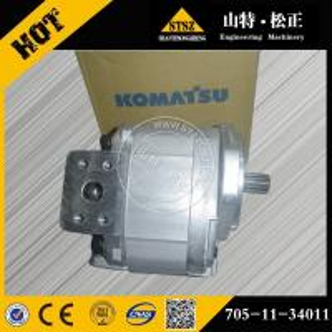 China Komatsu motor grader spare parts, GD705A-4 transmission pump assy 705-11-34011 wholesale