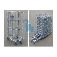 China Steel Security Cage Storage Locker , Inventory Mobile Security Cage With Nylon Wheels wholesale