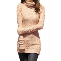 China Slim Fit Turtleneck Fashion Pullover Sweaters Cable Knit Jumper Womens wholesale