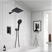 China Black Painted Shower Wall Faucet Stainless Steel Material Great Deforming Resistance wholesale