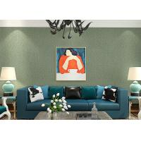 China Lounge room Contemporary Wall Coverings , Crack Foaming Silk Solid Color Removable Wallpaper wholesale