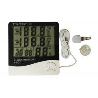China White Color Digital Weather Thermometer , Digital Indoor Outdoor Thermometer wholesale