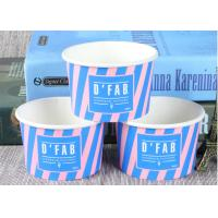 Take Away Custom Branded Ice Cream Cups Food Grade For Frozen Yogurt