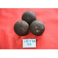 China Mines D90mm Unbreakable Forged Grinding Steel Ball High Core Hardness 59hrc - 60hrc wholesale