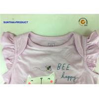 China Front Graphic Screen Newborn Baby Bodysuits Shirring Cap For Baby Girl wholesale