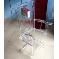 Quality High Transparency Crystal Acrylic Chair For Restaurant , Transparent for sale