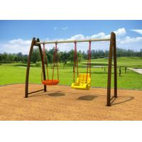 China No Paint Stripping Baby Swing Sets Outdoor Play Swing Set With Cradle KP-G008 on sale