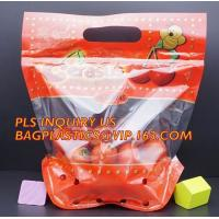 China Fruits packaging bag/Grapes plastic bag with ziplock, Air Holes Zip Handle Plastic Bags, bag with vent holes for Grape a on sale