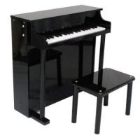 China Pretty Black Upright Mini Toy Wooden Toy Piano 37 Key For Toddlers U37A wholesale