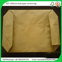 China BMPAPER 100% virgin wood pulp unbleached kraft test liner white top for cement bags on sale